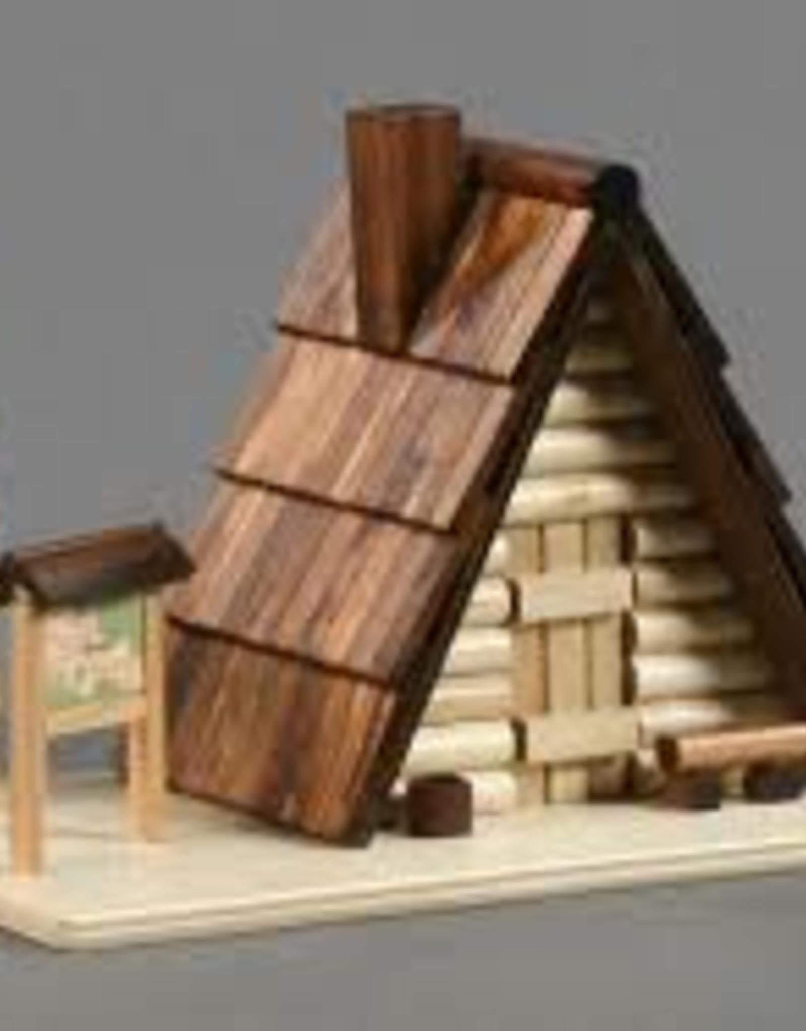 Ski Hut Smoking (Incense) House 12cm x 17cm