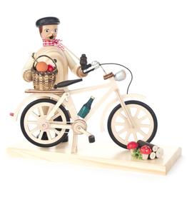 Mushroom Hunter Smoking (Incense) Man w Bike