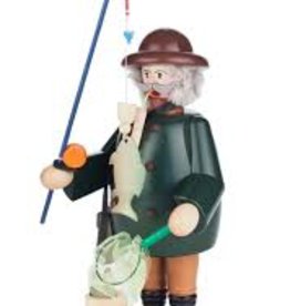 Angler / Fishing Smoking (Incense) Man 21cm x 10cm