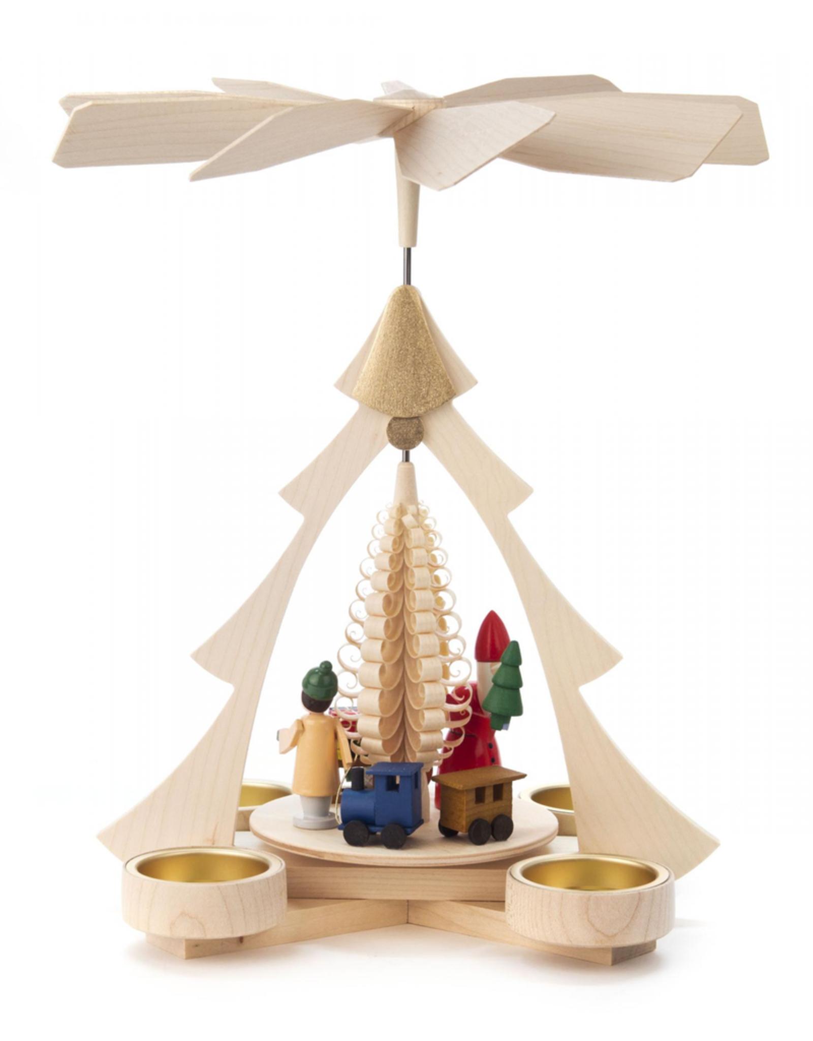Pyramid with Santa, Train for Tealight, 26cm