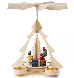 Pyramid with Santa, Train for Tealight, 26cm