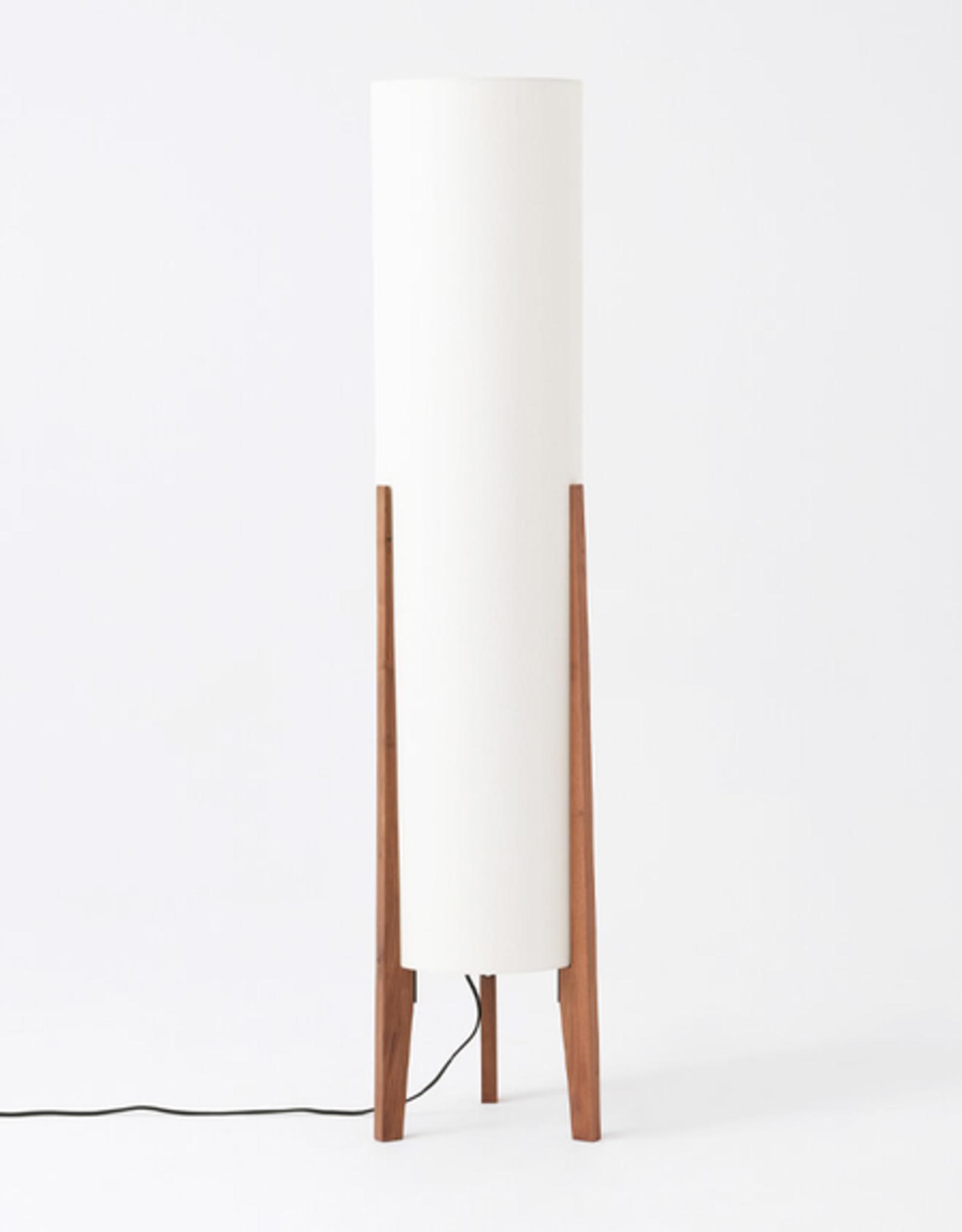 EQ3 Tube Floor Lamp - Walnut