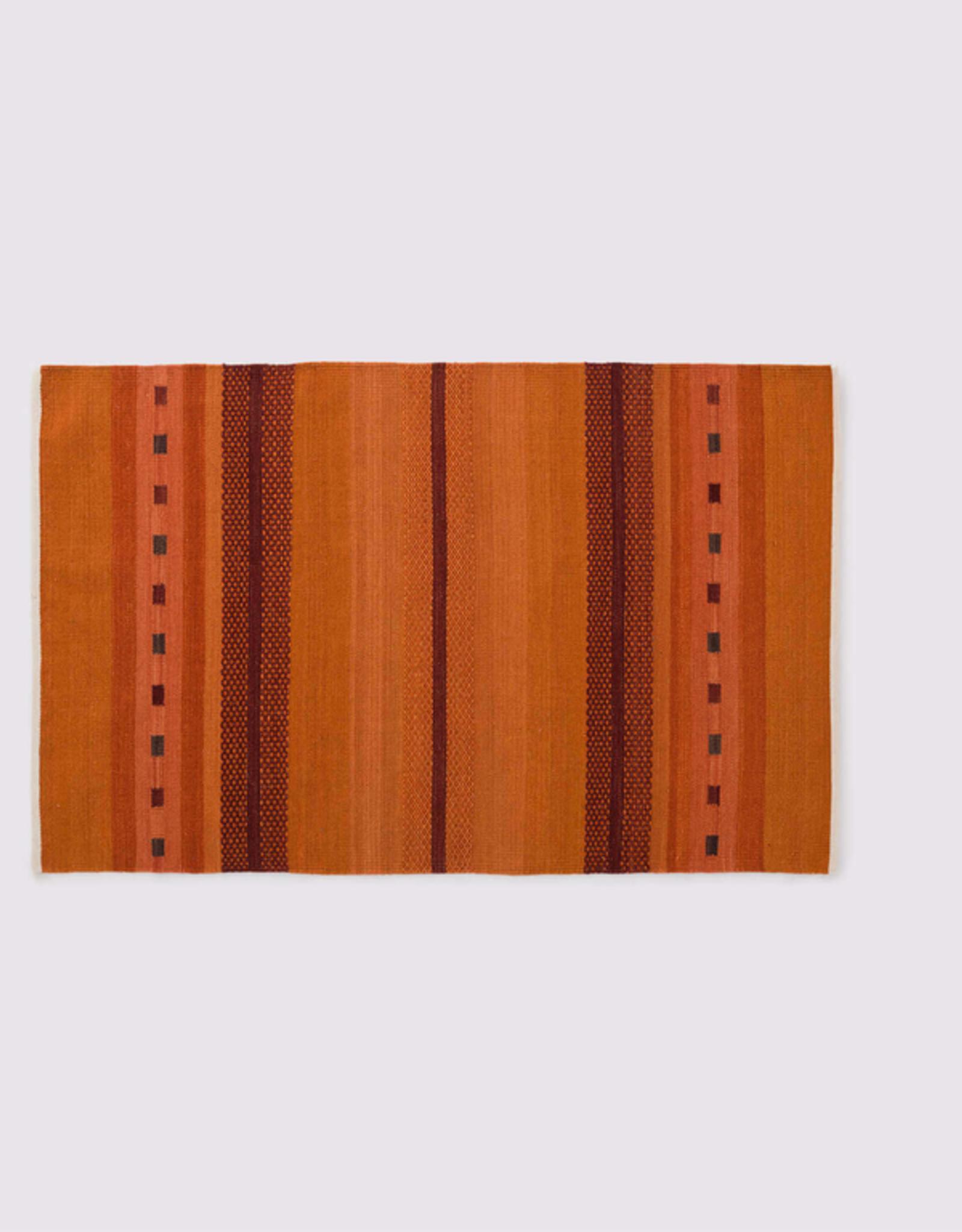 Atlas Rug, Orange 4x6 100% Wool