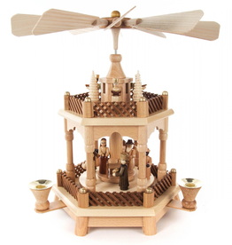 Nativity Pyramid, 2 Tier, 32 cm