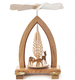 Pyramid w Deer for 14mm Candles, 25cm
