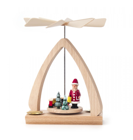 Santa Pyramid, Small for 14mm Candles. 17cm