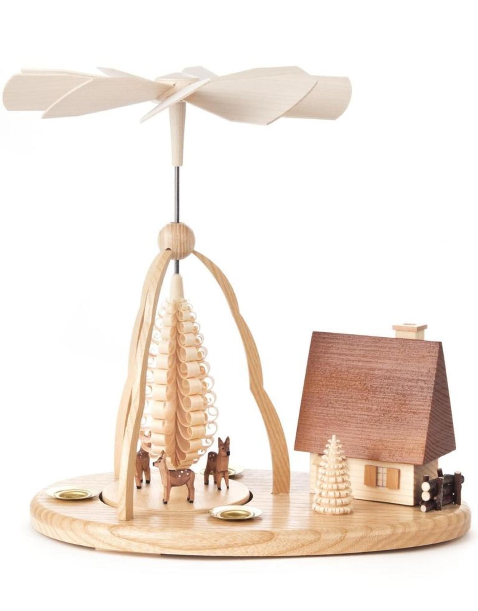 Pyramid w Deer And Smoke (Incense) House. 24cm