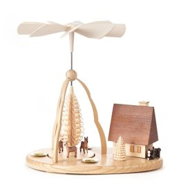 Pyramid w Deer And Smoke (Incense) House. 24cm