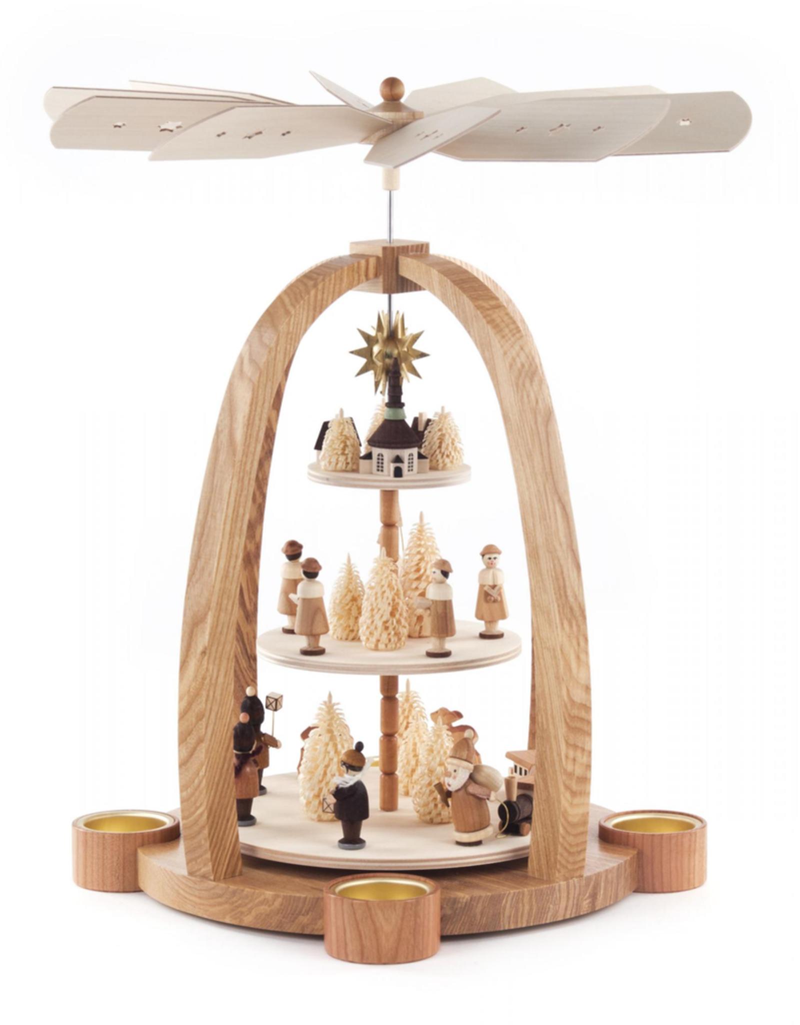 Christmas Pyramid, 3 Tier for Tealights. 40 cm