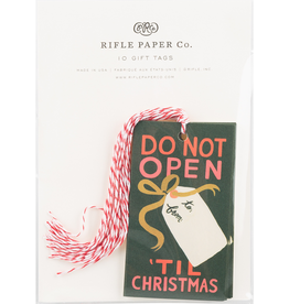 Rifle Paper Do Not Open Gift Tag Set