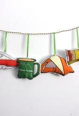 Camping Ornament Set Fabric,