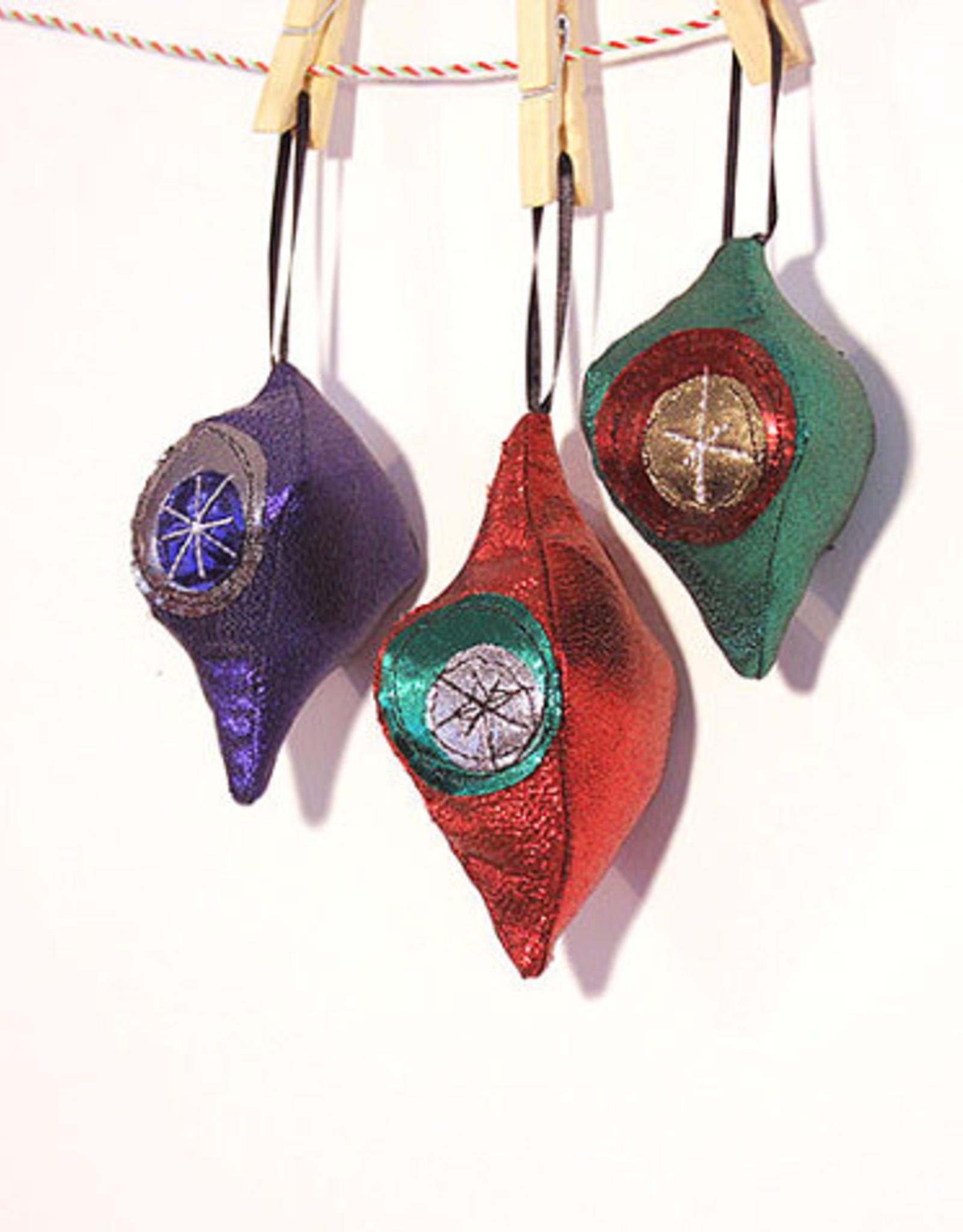 Retro Bulb Ornament Fabric Single (Assorted Designs)