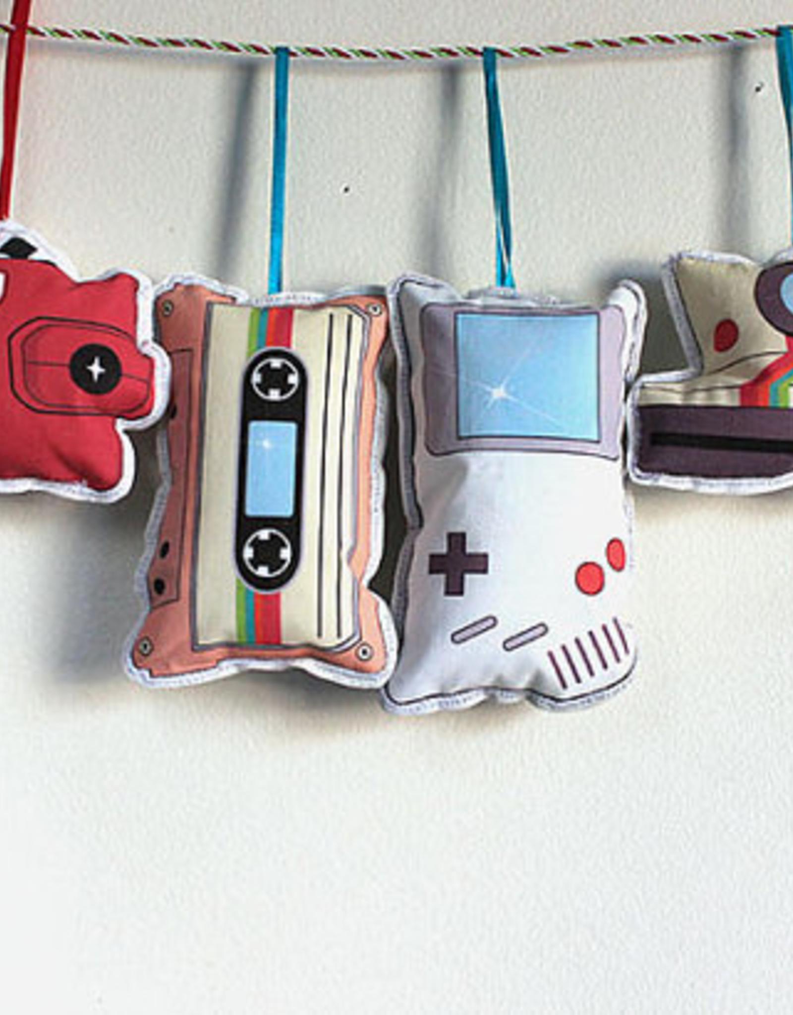Retro Technology Ornament Set Fabric