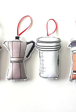 Coffee Ornament Set Fabric