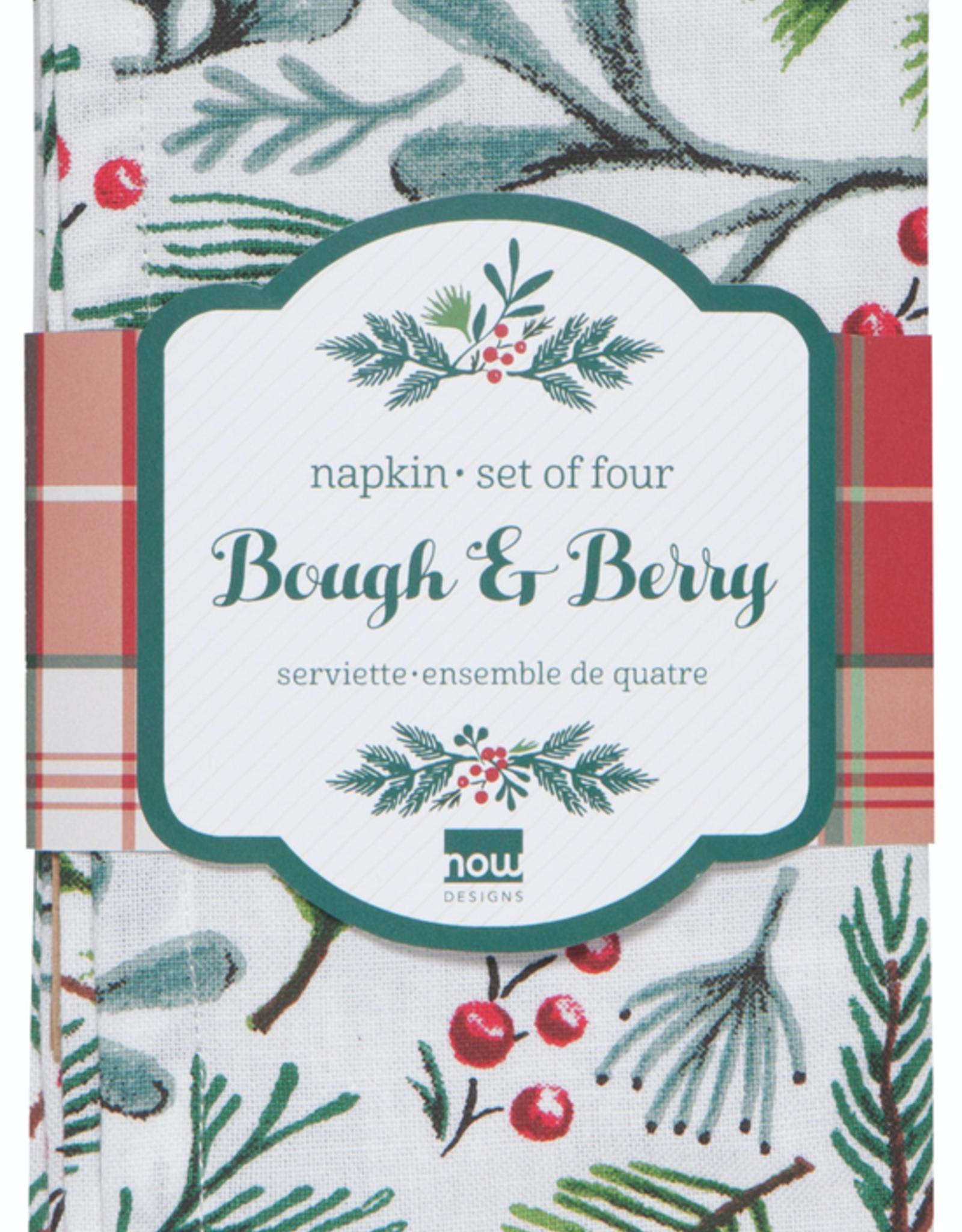Bough & Berry Napkins Set 4