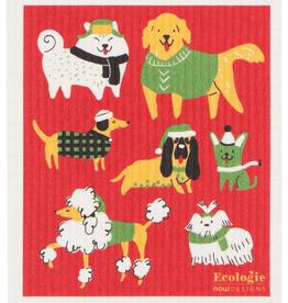 Yule Dogs Swedish Dishcloth