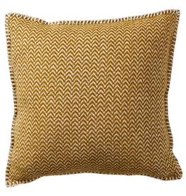 "Chevron Lambswool Cushion, Caramel 18x18"""