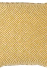 "Samba Cushion Yellow Lambswool 18x18"""