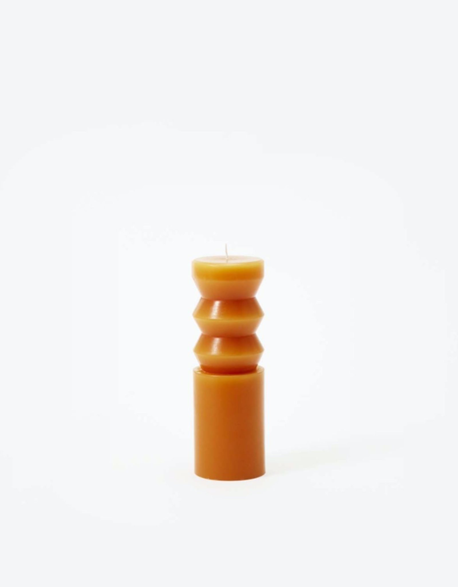 Sculpted Candle Terracotta, Medium