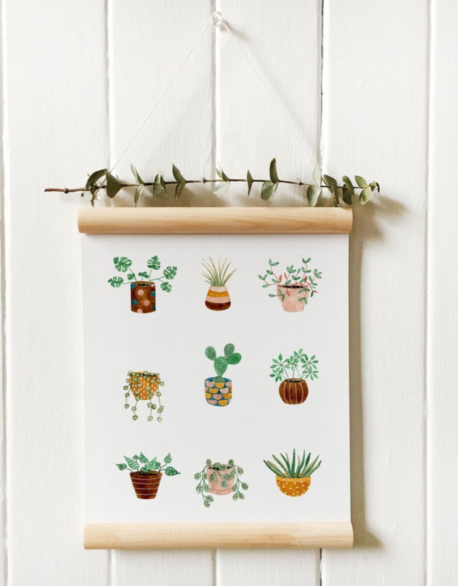 Potted Plants Print 8x10 (Unframed)