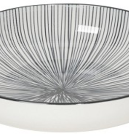 Shallow Bowl Etched Lines