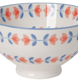 Blue Orange Tulip Bowl