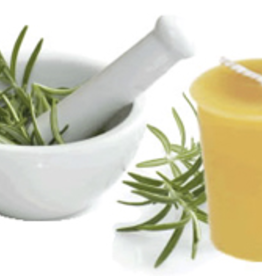 Beeswax Essential Oil Votive - Rosemary Mint