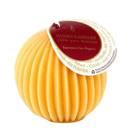 Beeswax Fluted Sphere-Natural