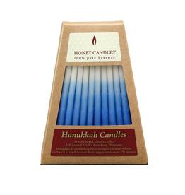 Beeswax Hanukkah Candles Blue/White