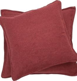 Blanket Stitch Cushion, Deep Red