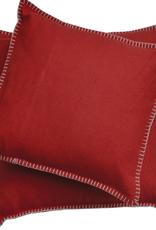 Blanket Stitch Cushion, Red