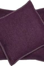 Blanket stitch cushion, violet