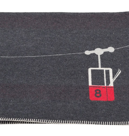 Alpine Cable Car Flannel Blanket