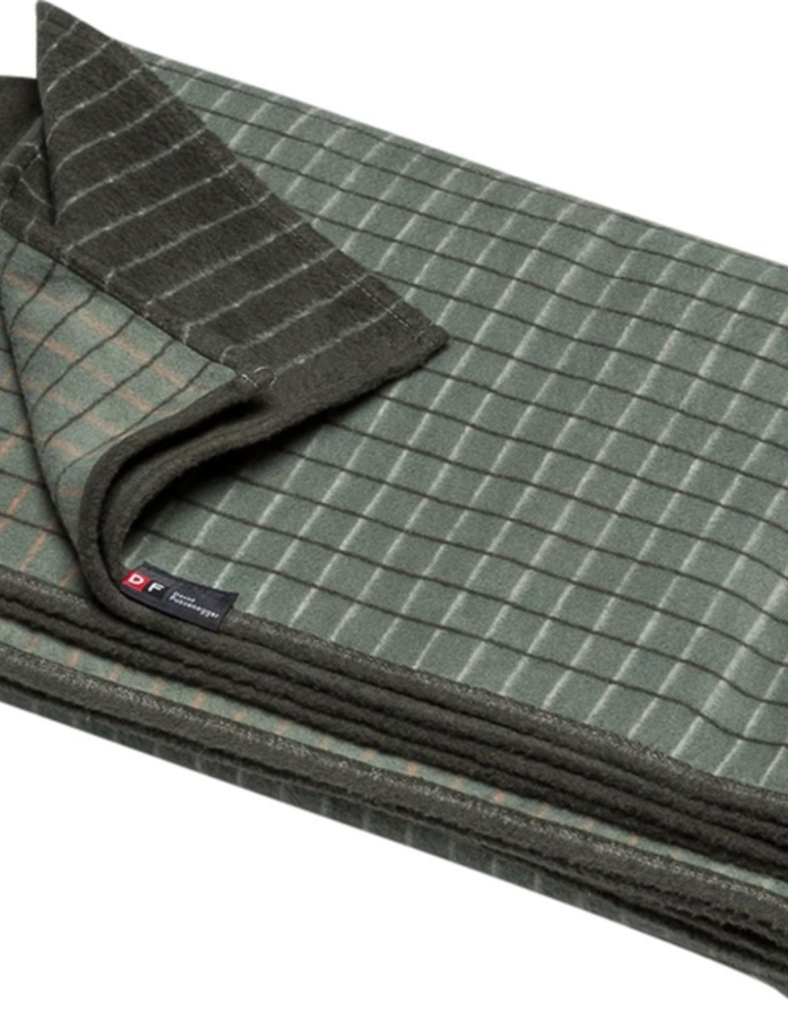 Cotton Flannel Checkered Throw - Green
