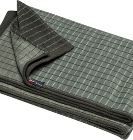 Cotton Flannel Checkered Throw - Green