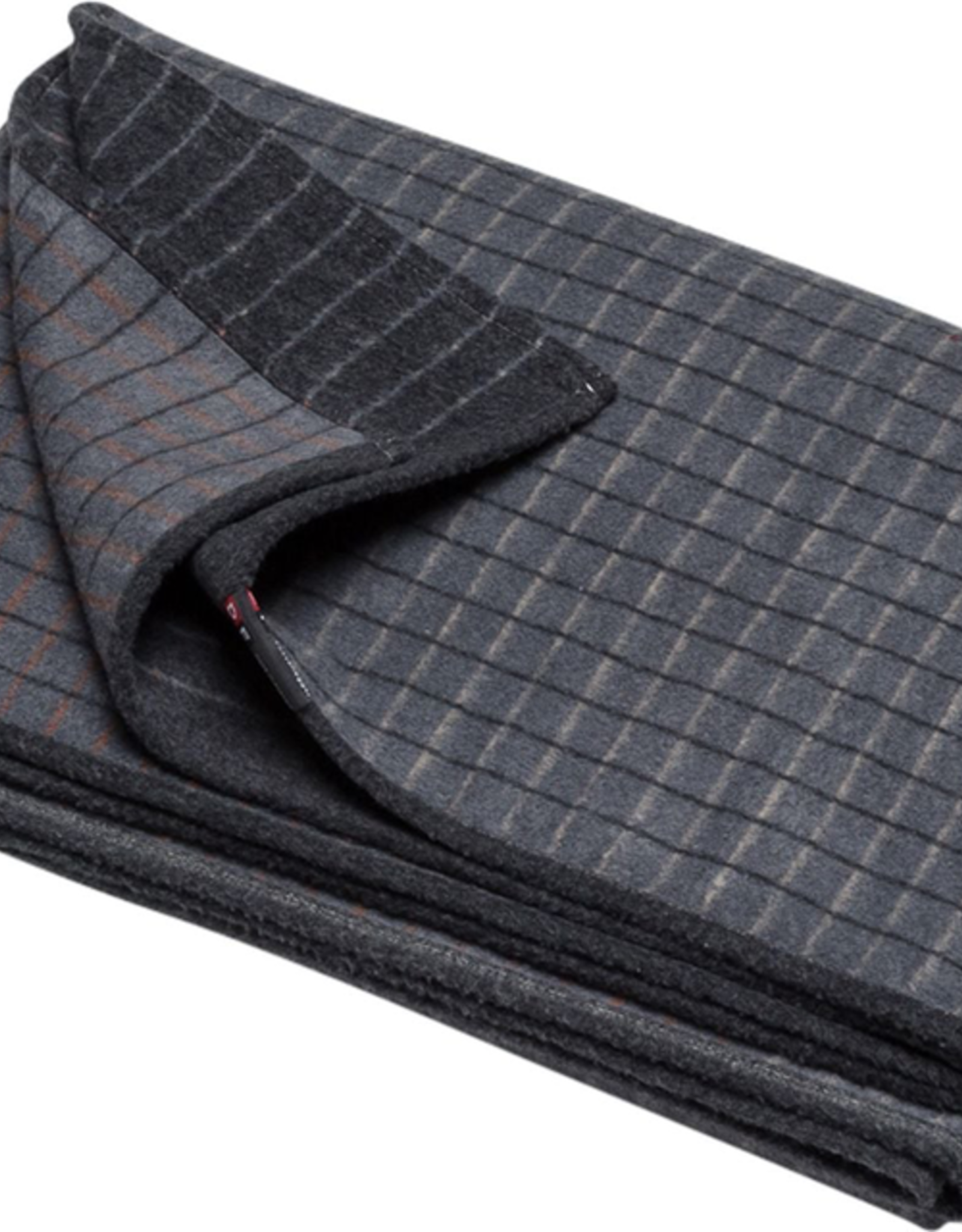 Cotton Flannel Checkered Throw - Grey