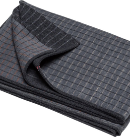 Cotton Flannel Checkered Throw - Grey