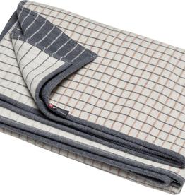 Cotton Flannel Checkered Throw - Off White