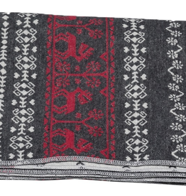Alpine Folklorist Throw Blanket - Charcoal