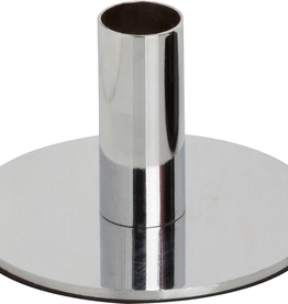 Metal Candle Holder, Silver