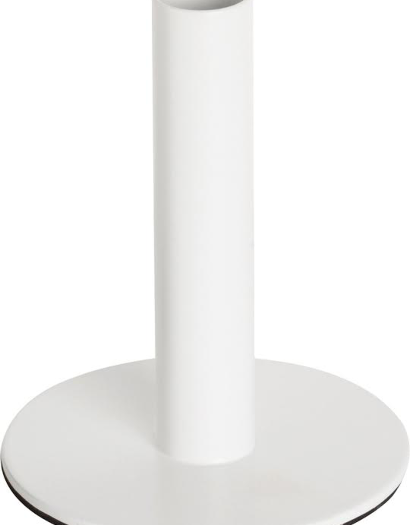Metal Candle Holder, White Large