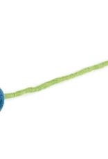 Felt Ball Flower Small - Turquoise