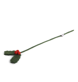Felted Holly Branch