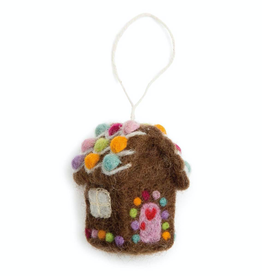 Felted Gingerbread House