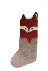 Felted Fox Stocking, Fair Trade 50cm