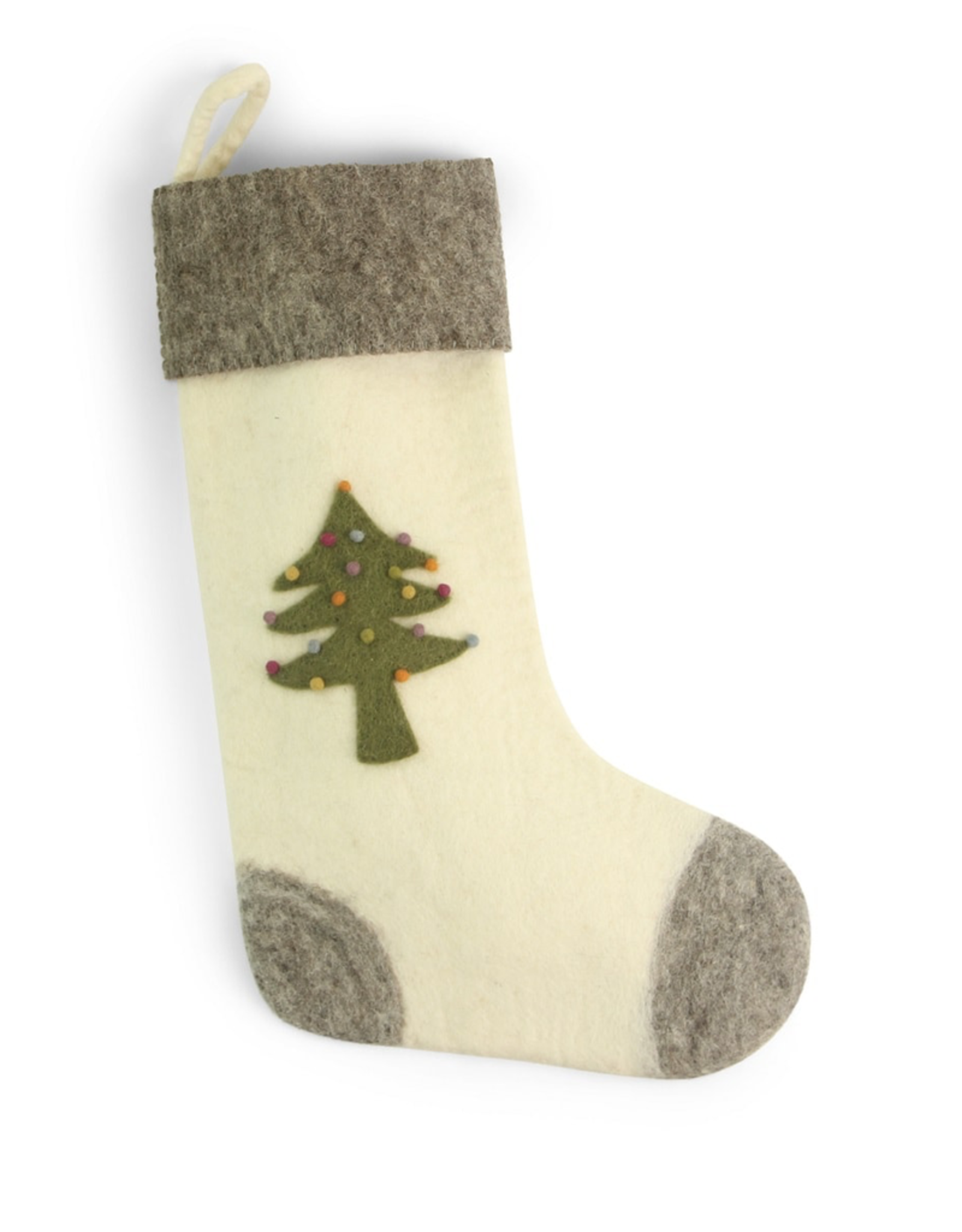 Felted Tree Stocking Fair Trade, 50cm