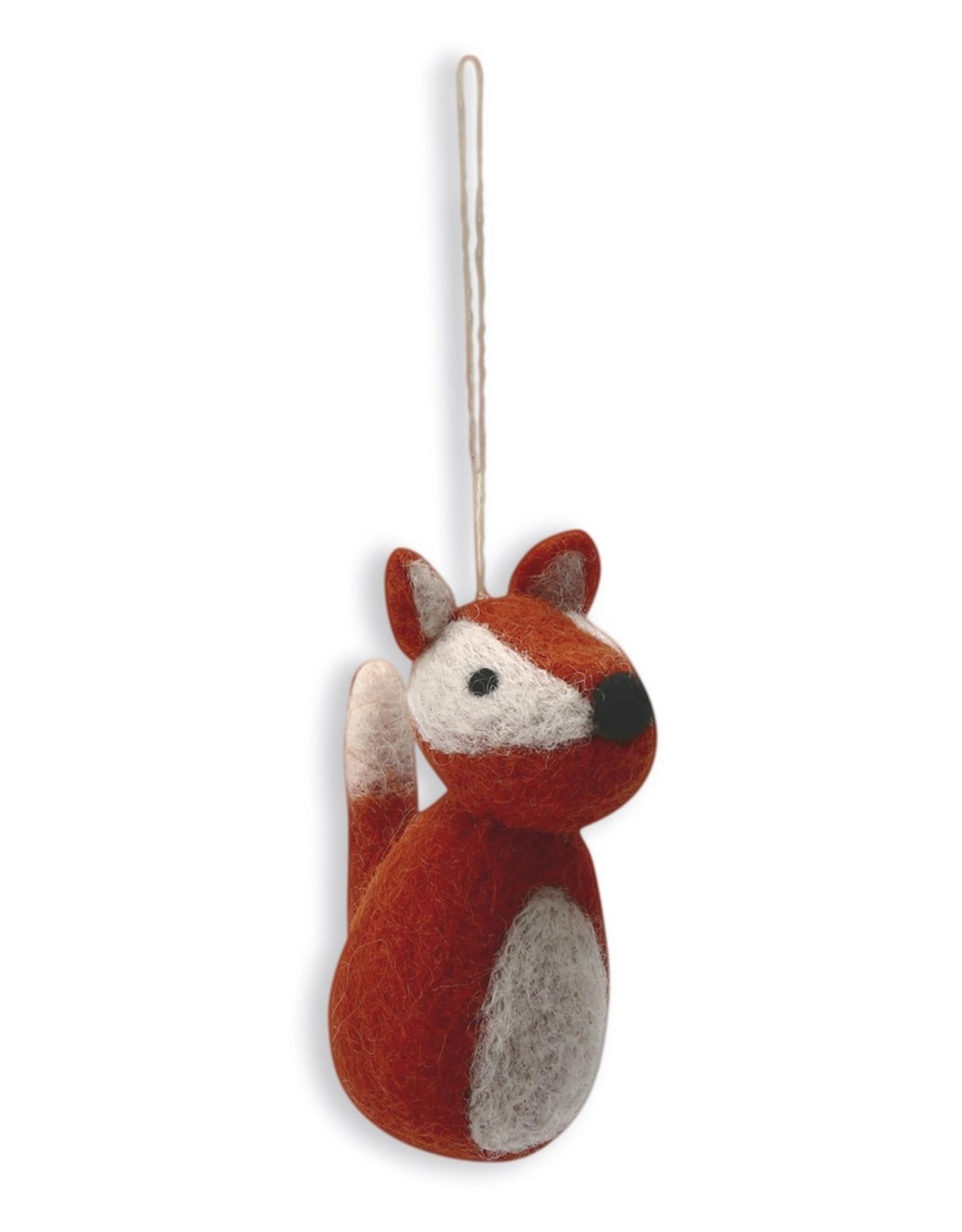 Felted Fox Ornament