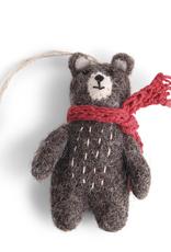 Felted Bear Ornament