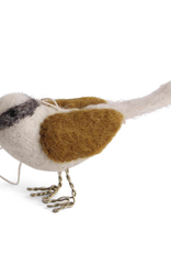 Felted Bird Ornament - Gold Brown