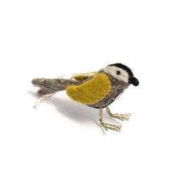 Felted Bird Ornament Ochre